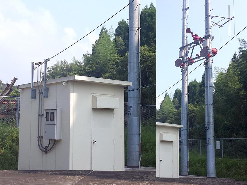 ダム放流警報局舎